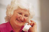 Patient speaking to doctor on the phone